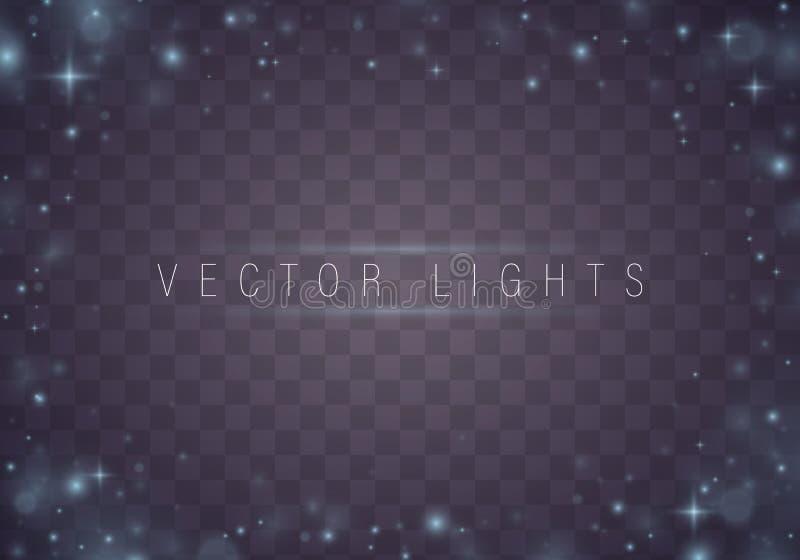 Ensemble d'effet de la lumière illustration stock