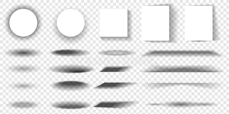 Ensemble d'effet de papier avec les ombres réalistes transparentes Bannière, calibre ou moquerie de Web  Brochures pour promotion illustration libre de droits
