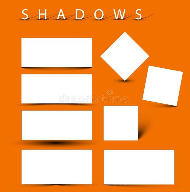 Ensemble d'effets d'ombre d'evctor illustration libre de droits