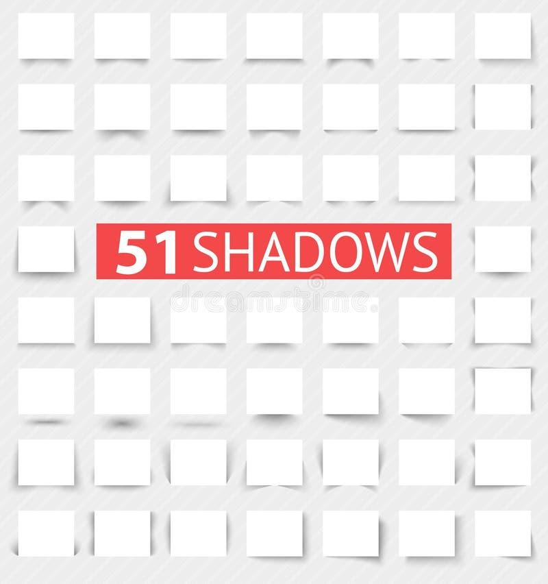 Ensemble d'effets d'ombre réalistes transparents illustration de vecteur