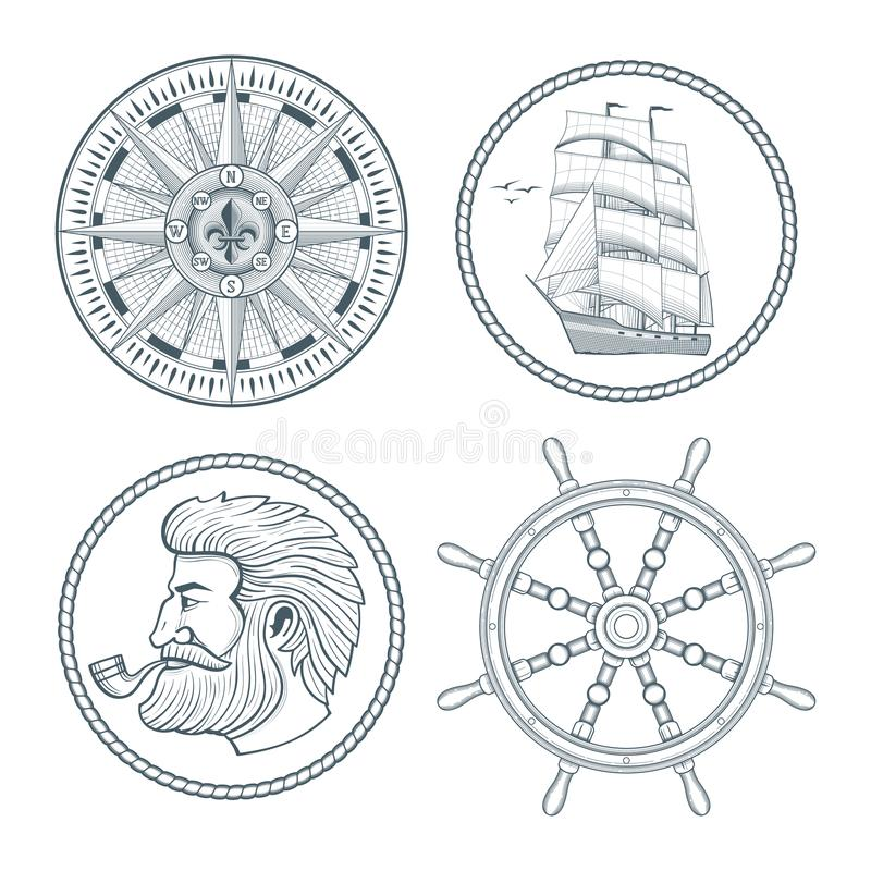 Ensemble d'emblèmes de vintage illustration de vecteur