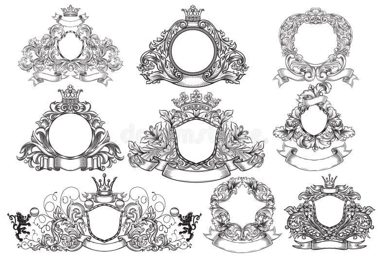 Ensemble d'emblèmes de vintage illustration libre de droits
