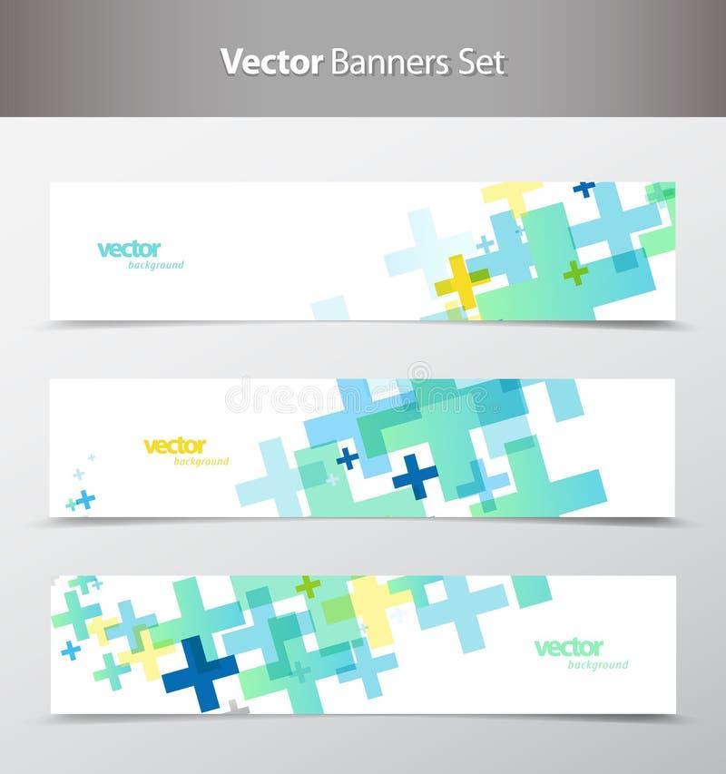 Ensemble d'en-têtes colorés abstraits de Web illustration de vecteur
