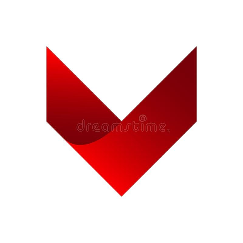 Ensemble d'entreprise de conception d'icône de logo abstrait de vecteur D'isolement sur le petit morceau illustration libre de droits
