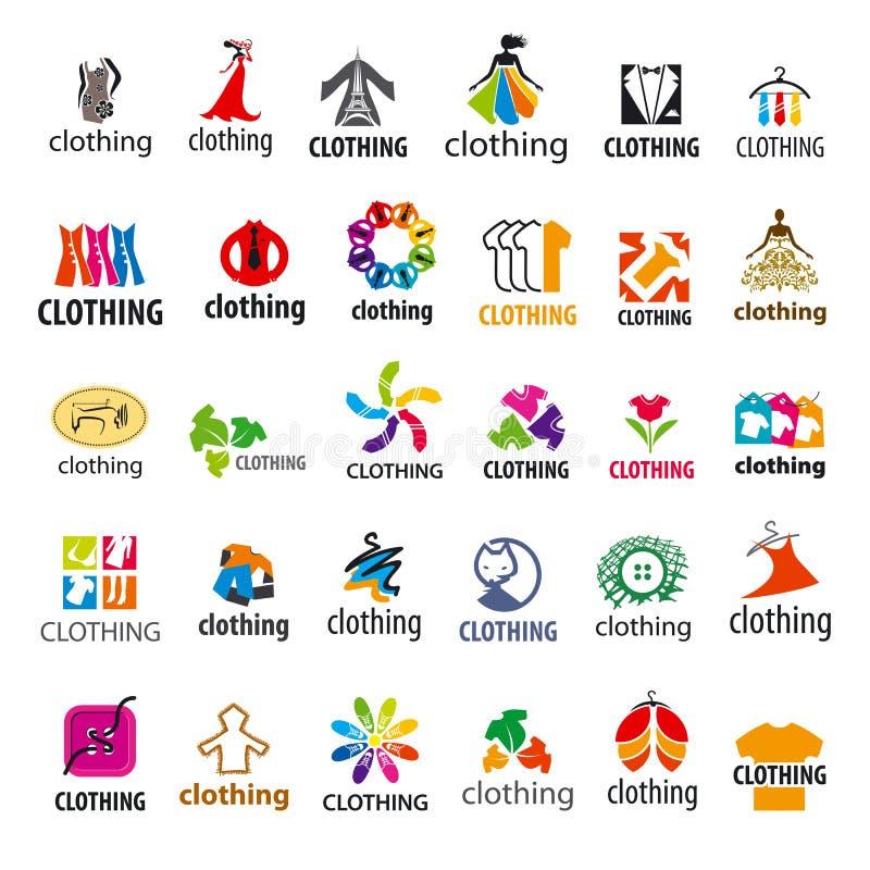 Ensemble d'habillement de logos de vecteur illustration stock