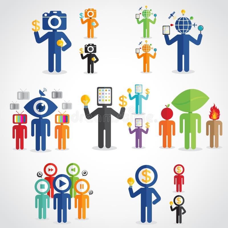 Ensemble d'homme de technologie illustration libre de droits