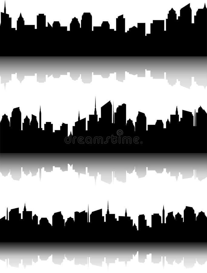 Ensemble d'horizon de ville d'affaires illustration de vecteur