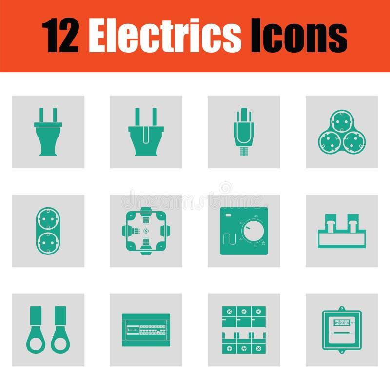 Ensemble d'icône d'électricités illustration de vecteur