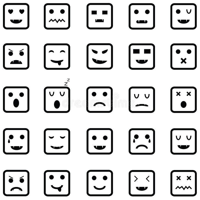 Ensemble d'icône d'émotion illustration de vecteur