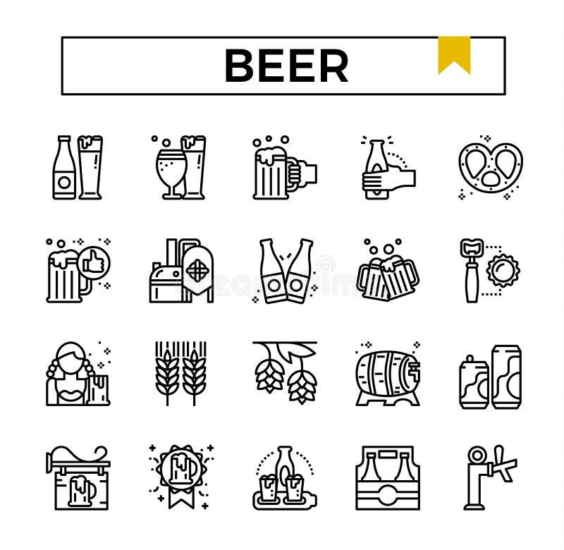 Ensemble d'icône d'ensemble de bière illustration libre de droits