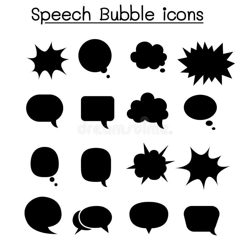 Ensemble d'icône de bulle de la parole illustration libre de droits