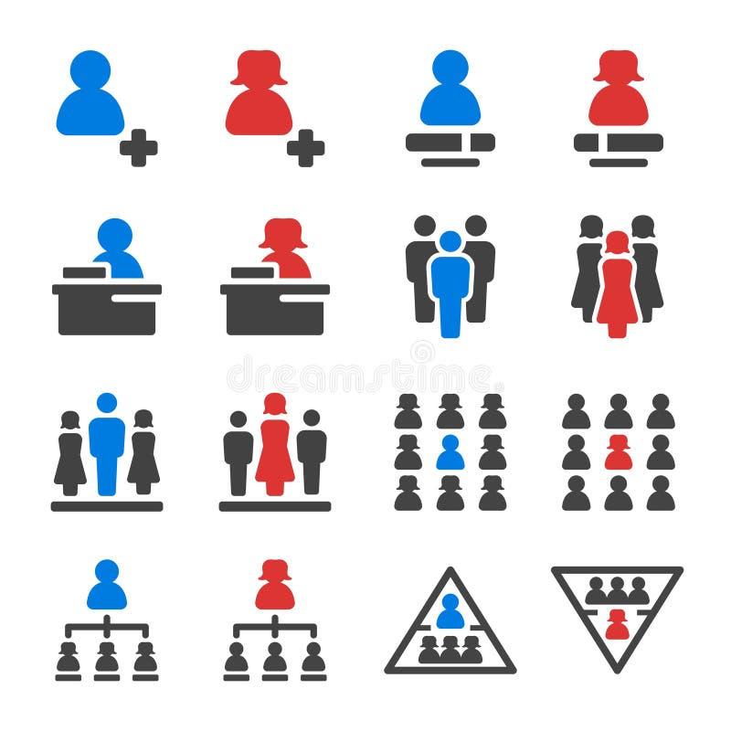 Ensemble d'icône de chef illustration de vecteur