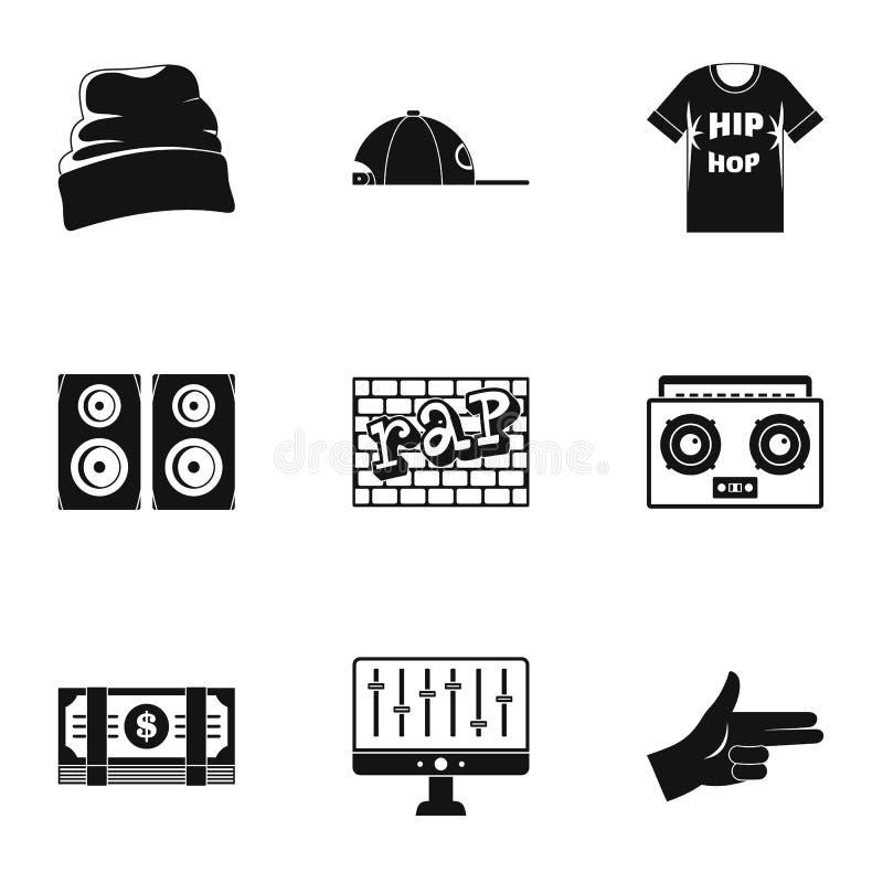 Ensemble d'icône de coup sec et dur, style simple illustration libre de droits