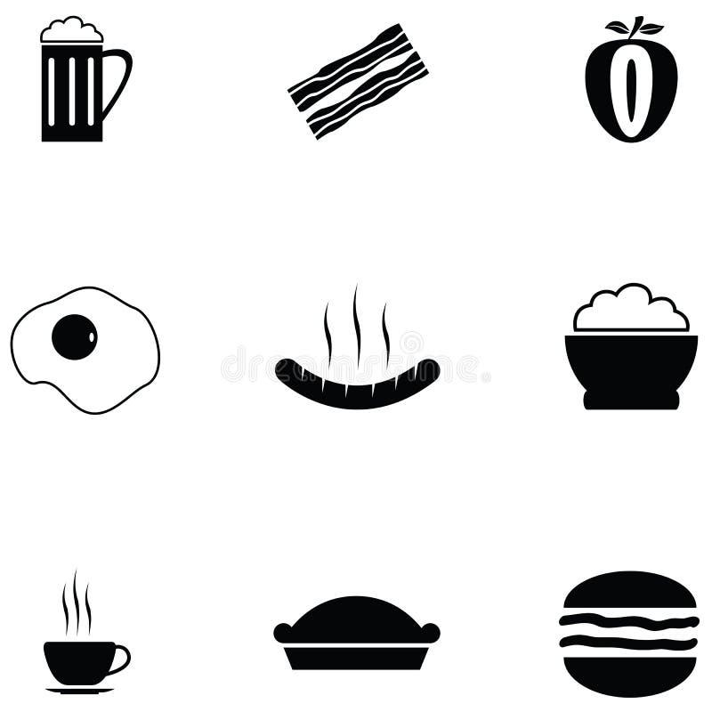 Ensemble d'icône de déjeuner illustration de vecteur