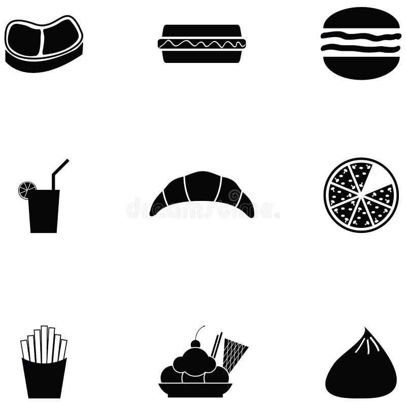 Ensemble d'icône de déjeuner illustration stock