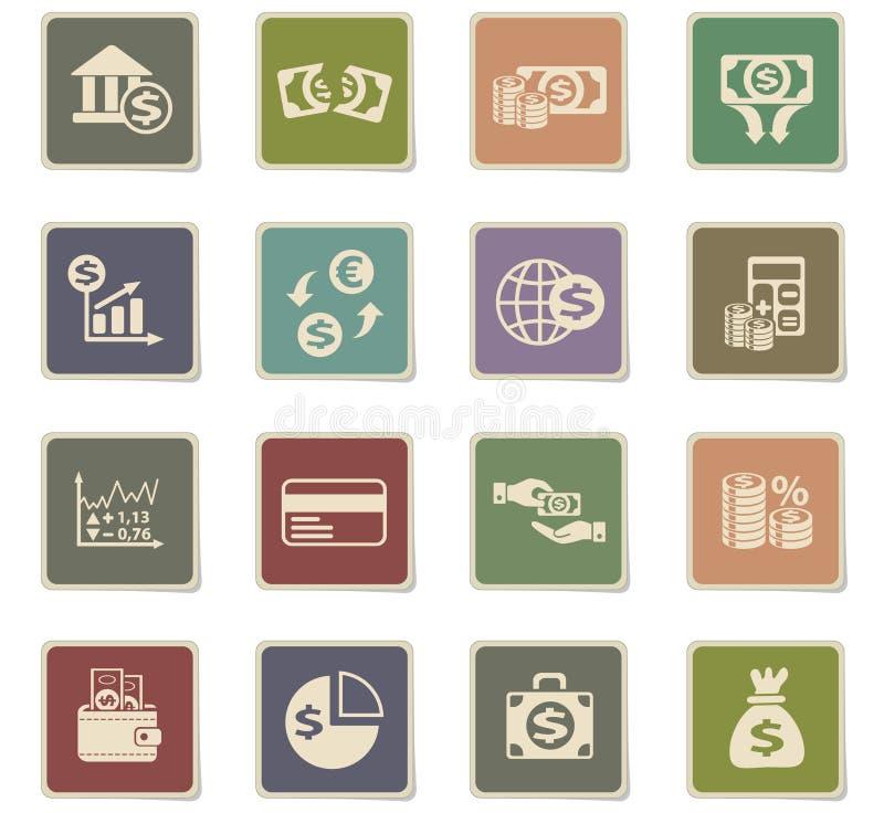 Ensemble d'icône de finances d'affaires illustration libre de droits