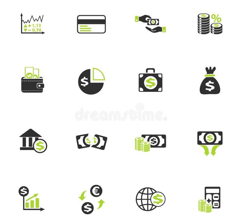 Ensemble d'icône de finances d'affaires illustration de vecteur