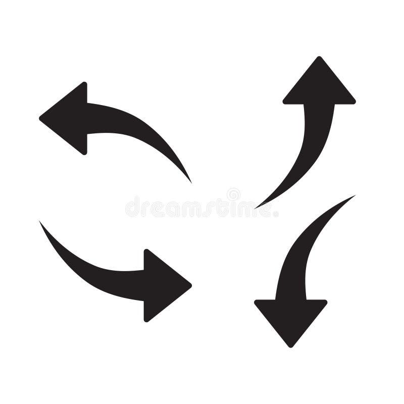 Ensemble d'icône de flèche, ensemble de pictogramme de flèche, ensemble d'isolement noir d'icône de flèche, illustration de vecte illustration libre de droits
