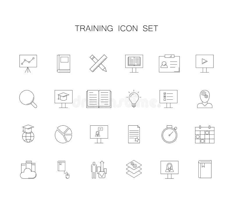 Ensemble d'icône de formation illustration de vecteur