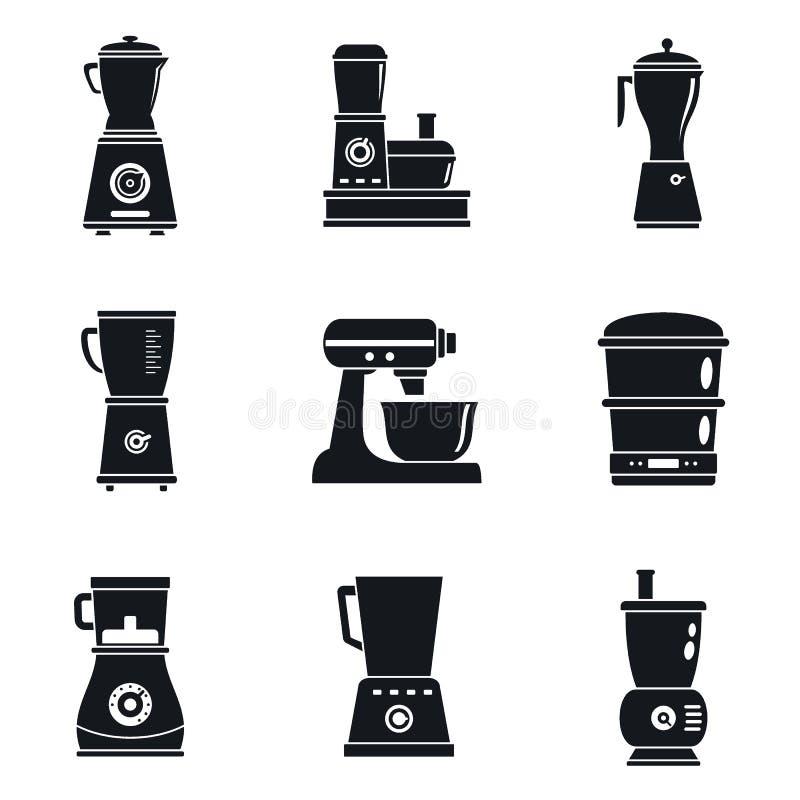 Ensemble d'icône de machine de robot ménager, style simple illustration libre de droits