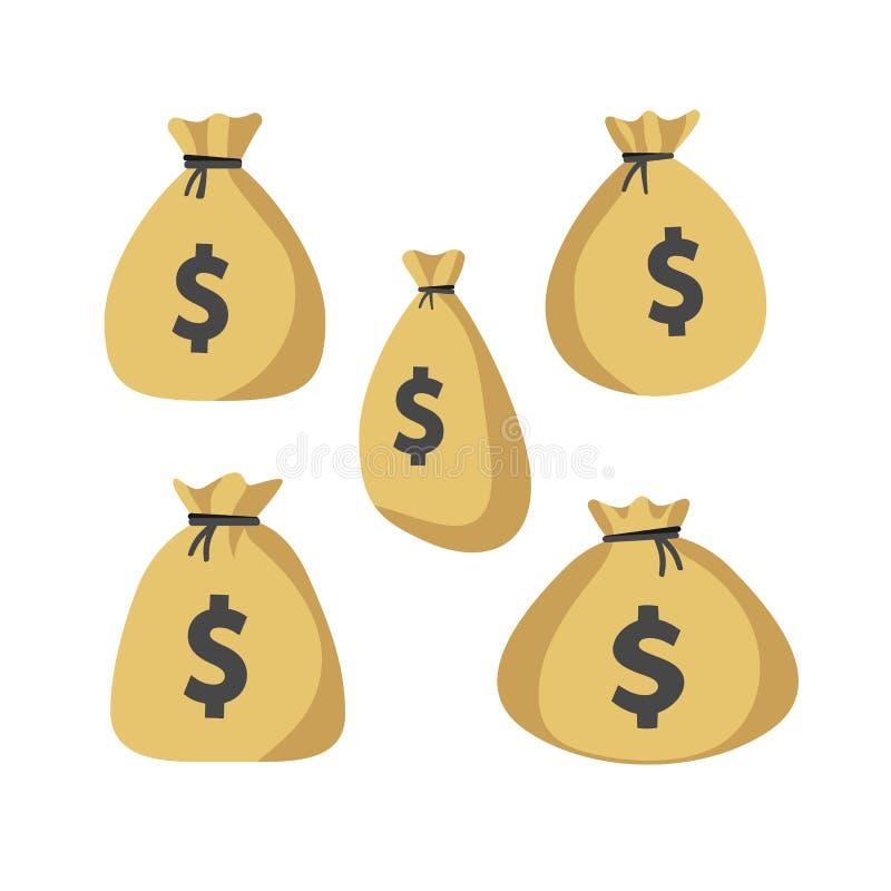 Ensemble d'icône de Moneybag illustration libre de droits