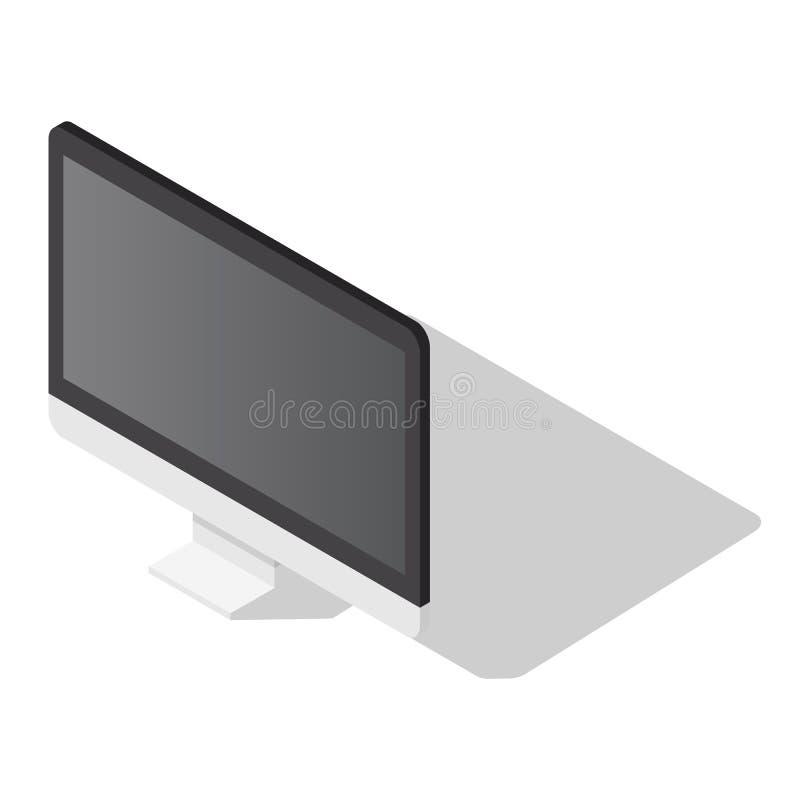 Ensemble d'icône de moniteur d'ordinateur de bureau, style isométrique illustration stock