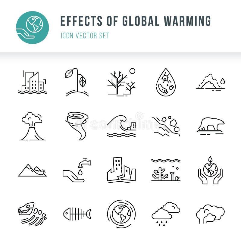 Ensemble d'icône de 20 morceaux d'icônes de vecteur d'isolement sur un fond blanc dans un style linéaire illustration libre de droits
