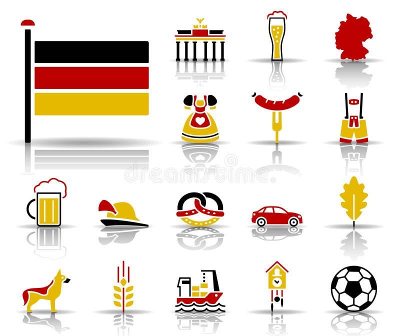 Ensemble d'icône de religion illustration stock