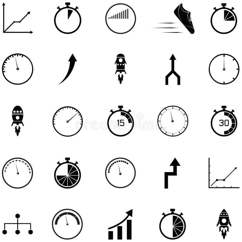 Ensemble d'icône de représentation illustration de vecteur