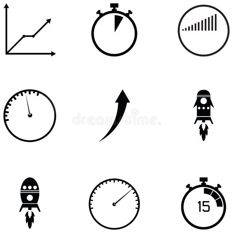 Ensemble d'icône de représentation illustration stock