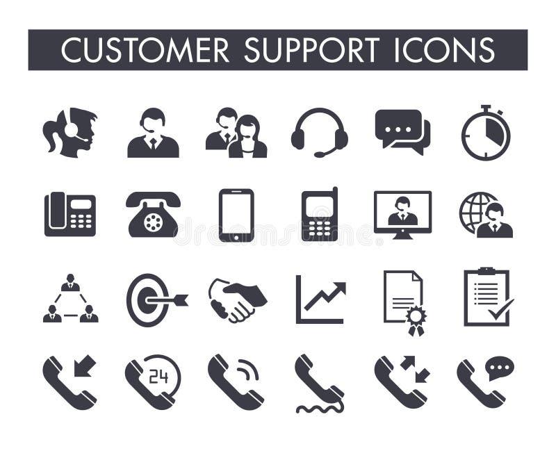 Ensemble d'icône de service de support à la clientèle illustration libre de droits