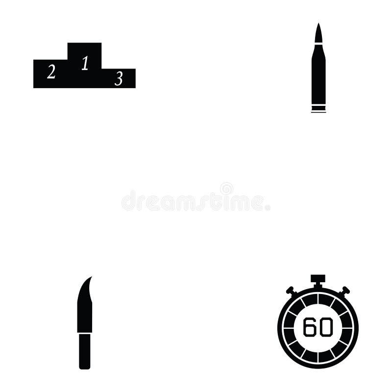 Ensemble d'icône de tir d'argile illustration stock