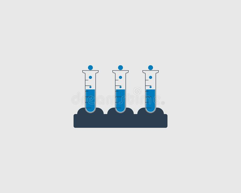 Ensemble d'icône de tube à essai illustration libre de droits