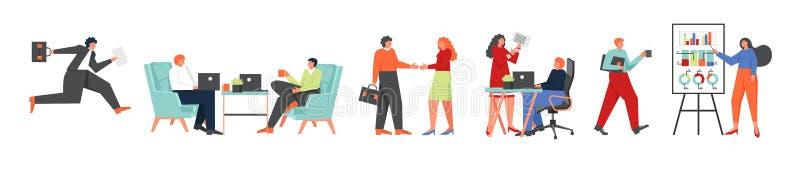 Ensemble d'icône d'hommes d'affaires, illustration plate de conception de style de vecteur illustration stock