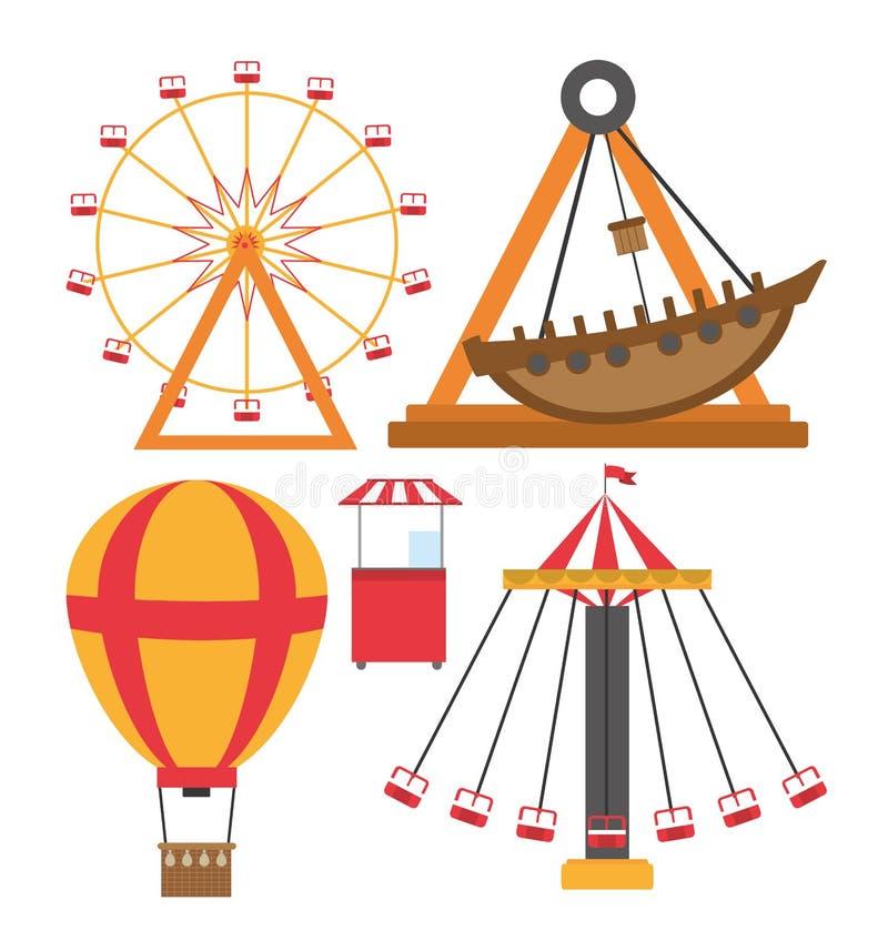 Ensemble d'icônes de carnaval illustration stock
