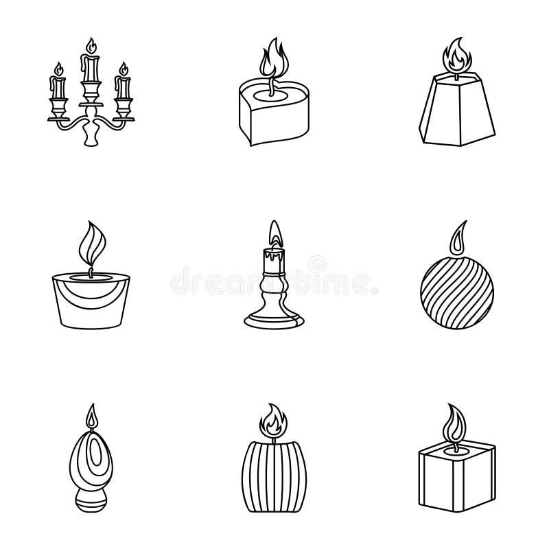 Ensemble d'icônes de combustion de carburant, style d'ensemble illustration libre de droits