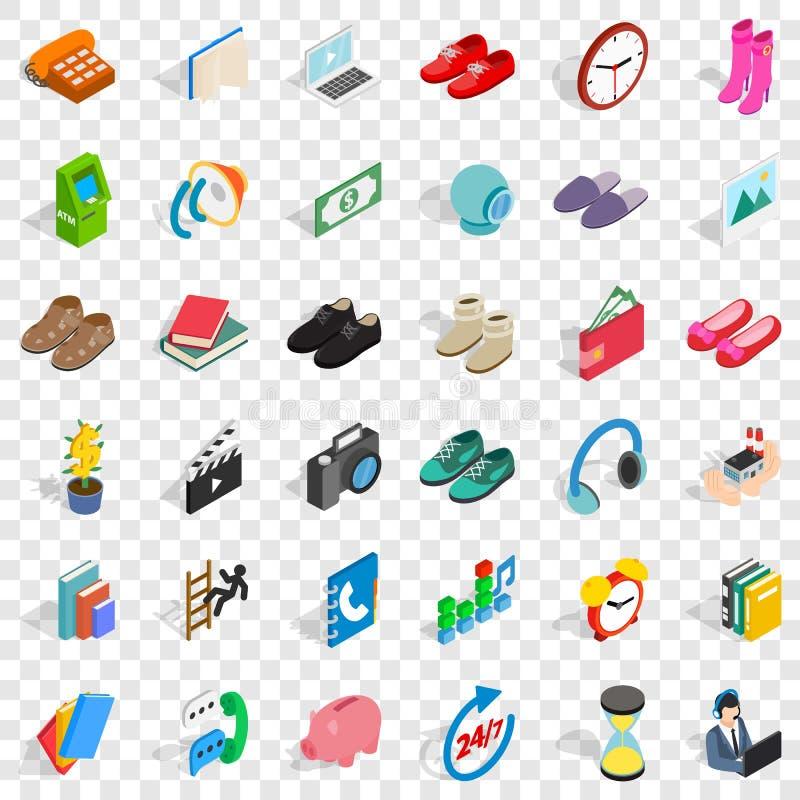 Ensemble d'icônes de donation, style isométrique illustration libre de droits