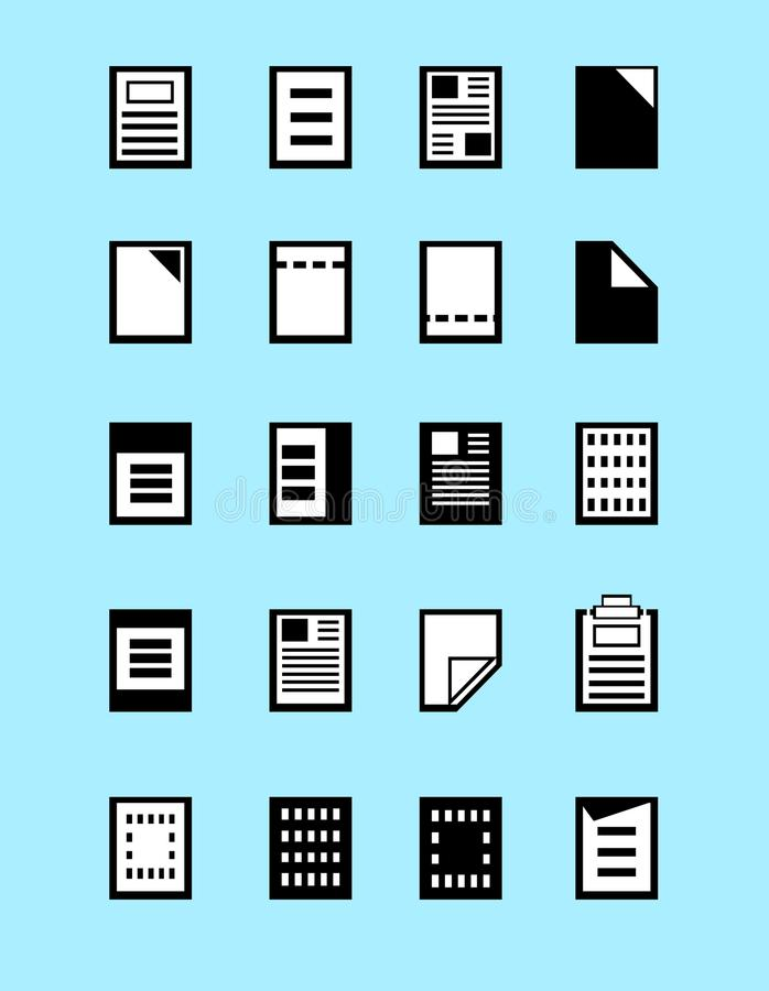 Ensemble d'icônes de formats de fichier de programme, vecteur d'extensions du fichier illustration libre de droits