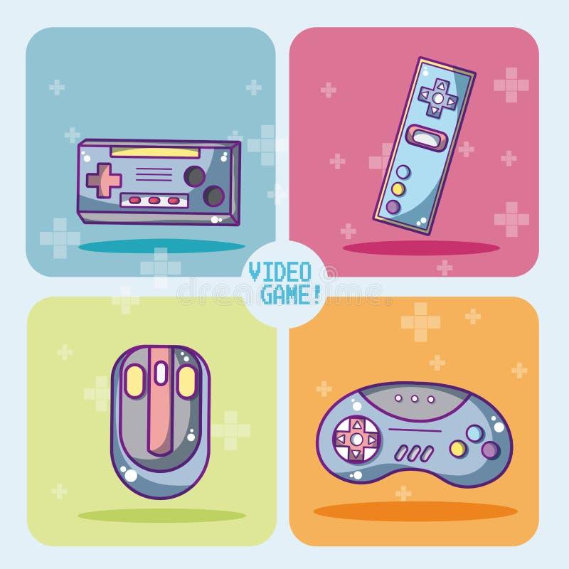 Ensemble d'icônes de jeux vidéo illustration de vecteur