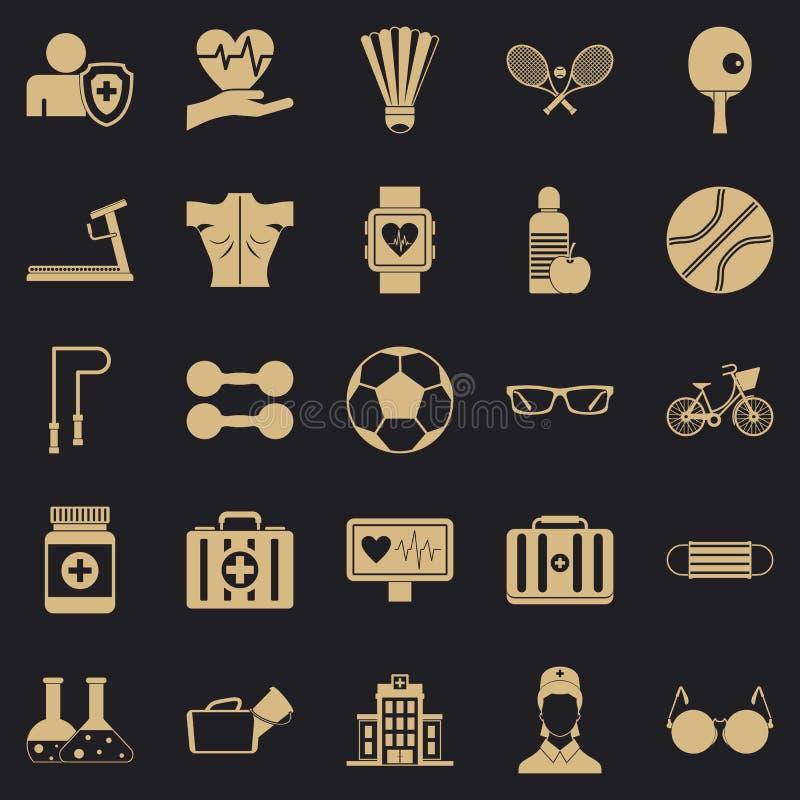 Ensemble d'icônes de médecin, style simple illustration stock