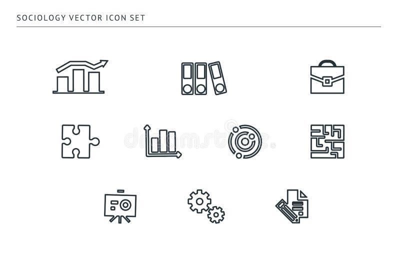 Ensemble d'icônes de vecteur d'ensemble sur une éducation d'école de thème illustration libre de droits