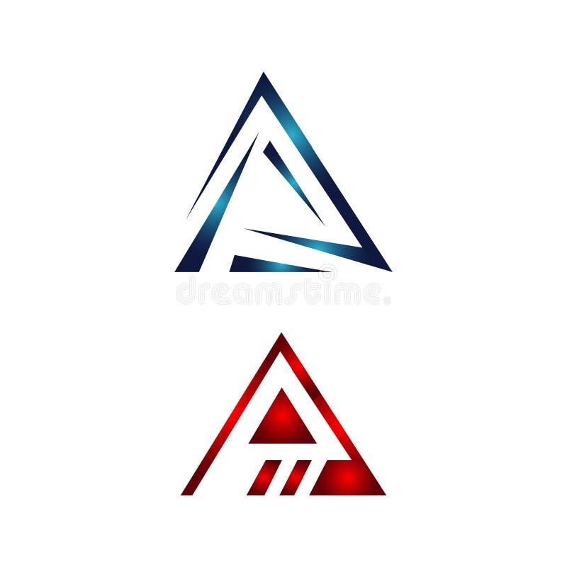 ensemble d'icônes du logo du triangle Abstract pour Tech Corporate Business Company illustration de vecteur