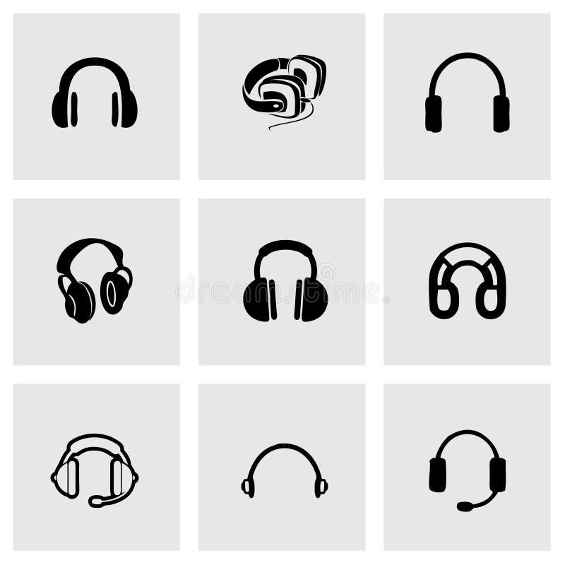 Ensemble d'icône d'écouteur de vecteur illustration libre de droits