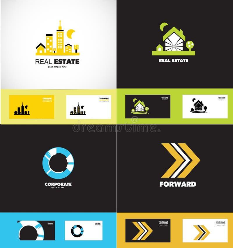 Ensemble d'icône d'éléments de conception de logo illustration libre de droits
