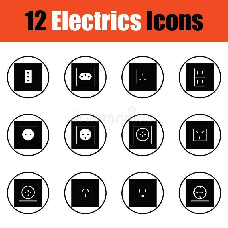 Ensemble d'icône d'électricités illustration libre de droits