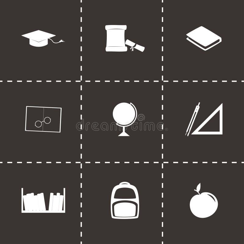 Ensemble d'icône d'étude de vecteur illustration stock