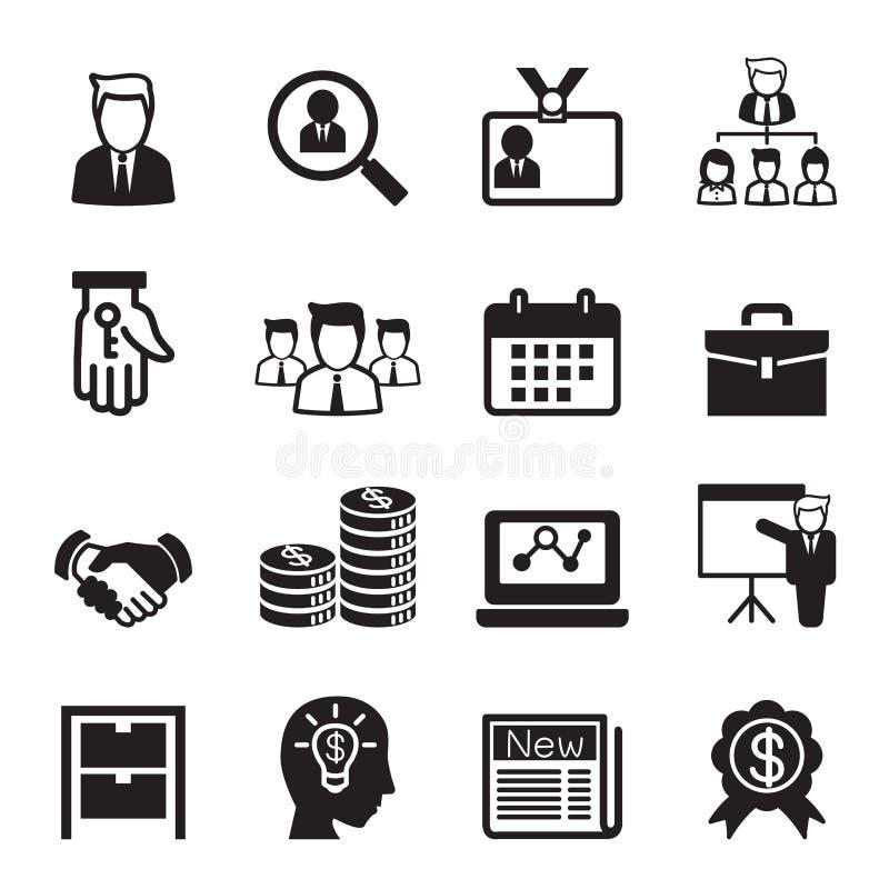 Ensemble d'icône d'affaires illustration stock