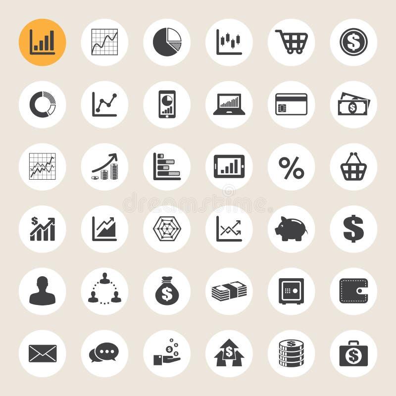 Ensemble d'icône d'affaires et de finances. illustration stock