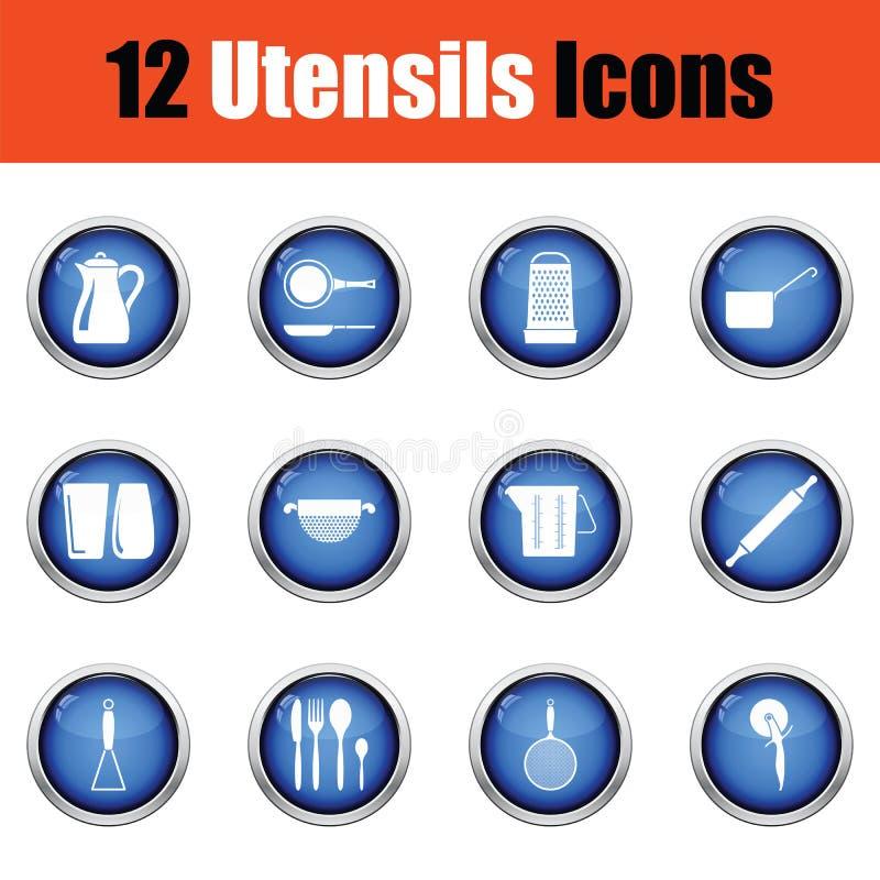 Download Ensemble D'icône D'ustensiles Illustration Stock - Illustration du mesure, bouchon: 77160788