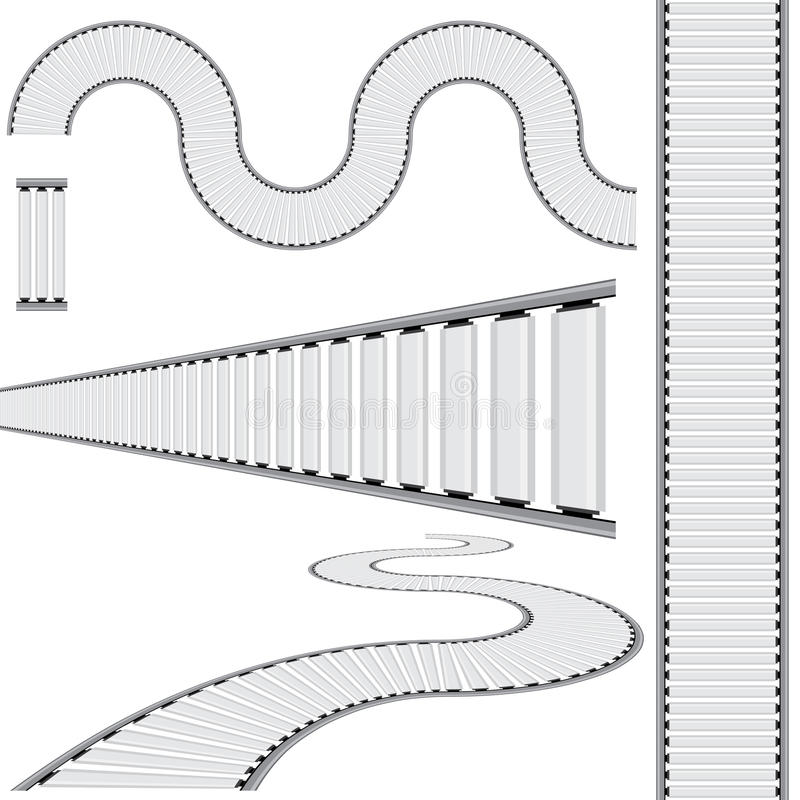 Ensemble d'icône de bande de conveyeur illustration stock